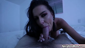 My new MILF stepmothers sex drive is too much to handle