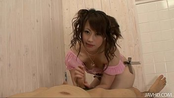 Adorable Teen K anae Serizawa Gives Her Guy A  ives Her Guy A Foot Job Before Gobbling Down His H