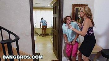 Watch video sex BANGBROS Stepmom threesome with the Latina maid Abby Lee Brazil of free