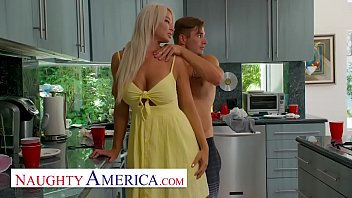 Naughty America    London River Sneaks Quickie  Sneaks Quickie With Her Son's Friend