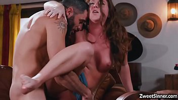 Sexy babe Maddy O Reilly had sex with her horny neighbor while her boyfriend is watching.