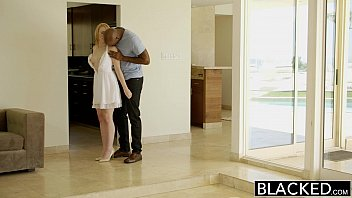 BLACKED Blonde Babysitter Trillium Fucks her Black Boss