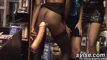 3 hot sluts searching anal sex at sexshop
