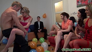 cover video European College Girl Jizzed At Bday Party