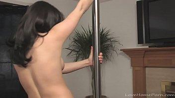 Hot stripper has fun with dancing