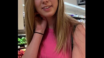 Petite Babe Haley Reed Flashes Tits in Grocery Store then Fucks You (POV) thumbnail