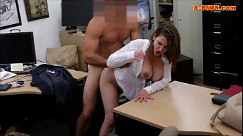 Two Big White Cocks Foxy Business Lady Gets