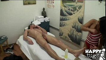 Hot Exotic Busty Asian Strokes Sucks And Rides Stiff Cock On Massage Table