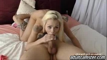 thumb Hot Blonde Gets Cum In Mouth After Masturbating With Guy