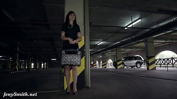 thumb Jeny Smith Oiling Her Naked Body In A Public Parking Free