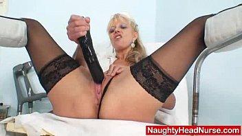 Elder blondie m atured putting in pussy plus h in pussy plus huge adult toy