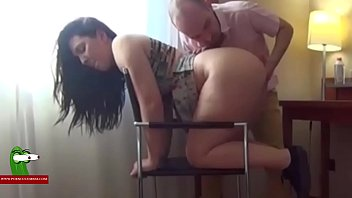 sexy redhead cheerleader Eating Pamela'_s cunt and fucking her on a chair. SAN319
