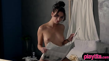 My cute brunette wife loves to show off her goods
