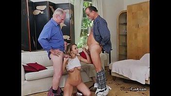Teen vixen molly mae blows old men...