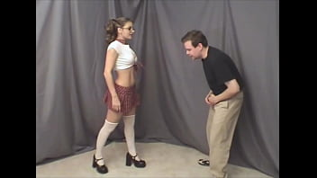 A slut beats a guy in the balls - Watch the whole video on school-sex.com