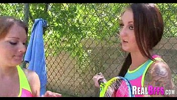 College girls tennis match turns to orgy 033