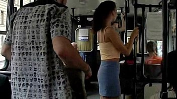 Public sex in public city bus in broad daylight