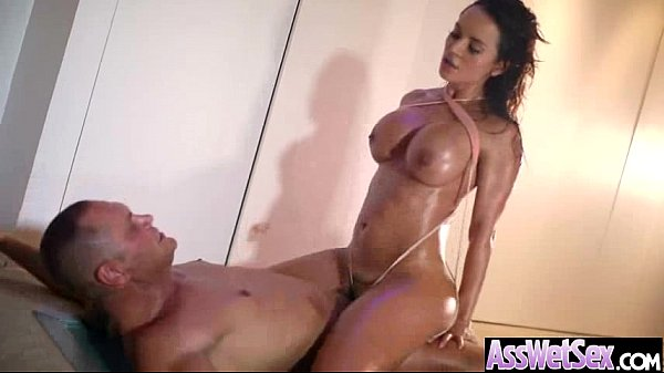 Curvy Booty Girl Get Oiled And Banged In Rear vid-14