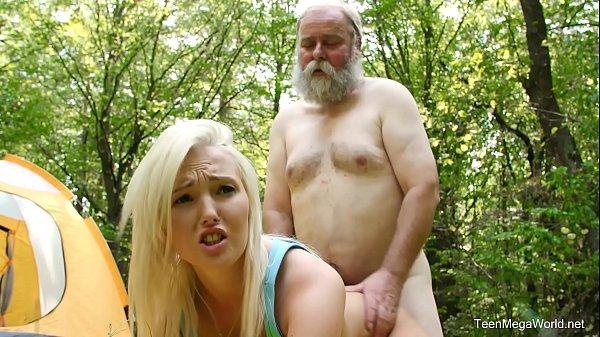 Old-n-Young com - Lovita Fate - Mushroom hunter picks up blonde pussy
