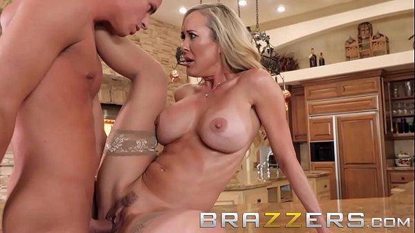 Blonde milf (Brandi Love) trains her stepson well - Brazzers