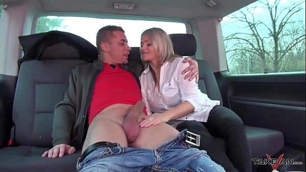 Stepmom get three young strangers dicks in crazy van ride