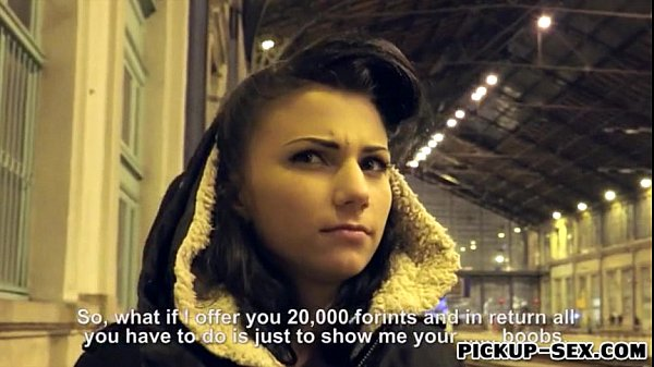 Cute Czech slut Caprice fucked by stranger dude for money
