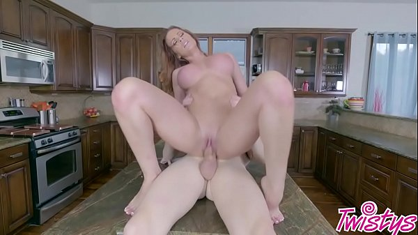 Sabrina Cyns gets her pussy slammed in the kitchen