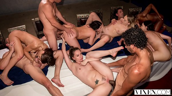 VIXEN Tori Black In The Greatest Orgy Ever Filmed