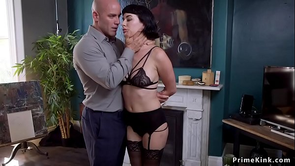 Hot brunette rides masters dick