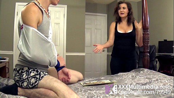 Mommy Helps Her Stepson With A Handjob