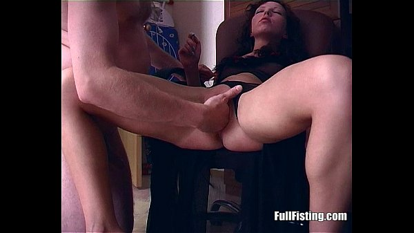 Brunette In Lingerie Wacthing Porn Gets Pussy Fisted