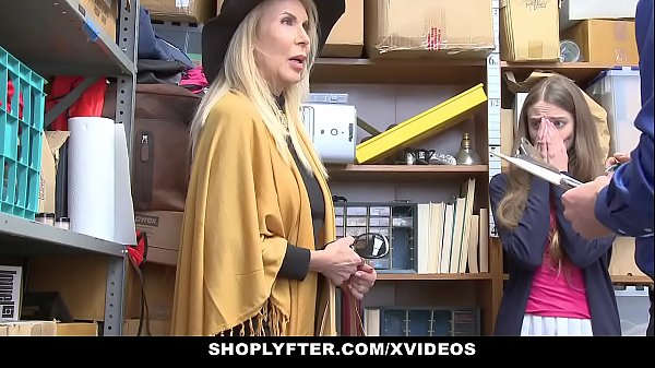 ShopLyfter - Granddaughter And Grandmother Duo Fuck LP Officer After Getting Cau