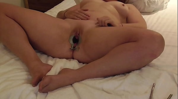 AnalSlut Piss Play - pushing my pee in to Analsluts bladder and draining her with catheter