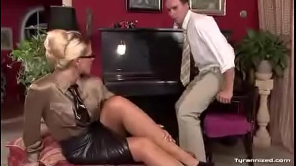 Nice nylon feet forced worship with teacher