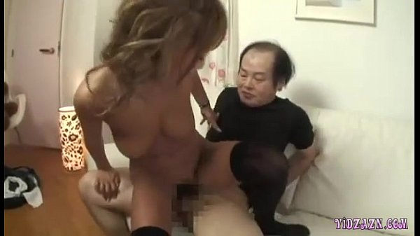 Hot Tanned Asian Girl Fucked By 2 Ugly Men Cum To Tits And To Mouth On The Bed