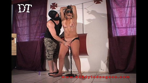 Ovara impaled and forced to cum at a party