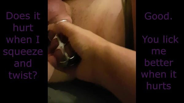 Chastity Hubby Forced to Lick and Watch Dildo Orgasm