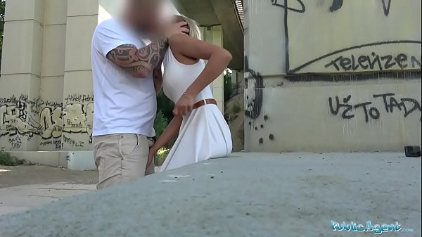 Public Agent Cherry Kiss given an Anal creampie in Public
