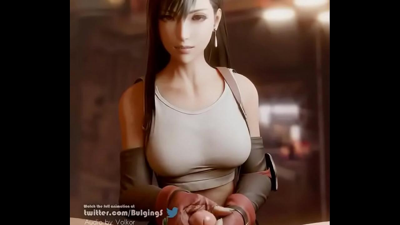 「Tugged by Tifa」by BulgingSenpai [Final Fantasy 3D Porn]  thumbnail