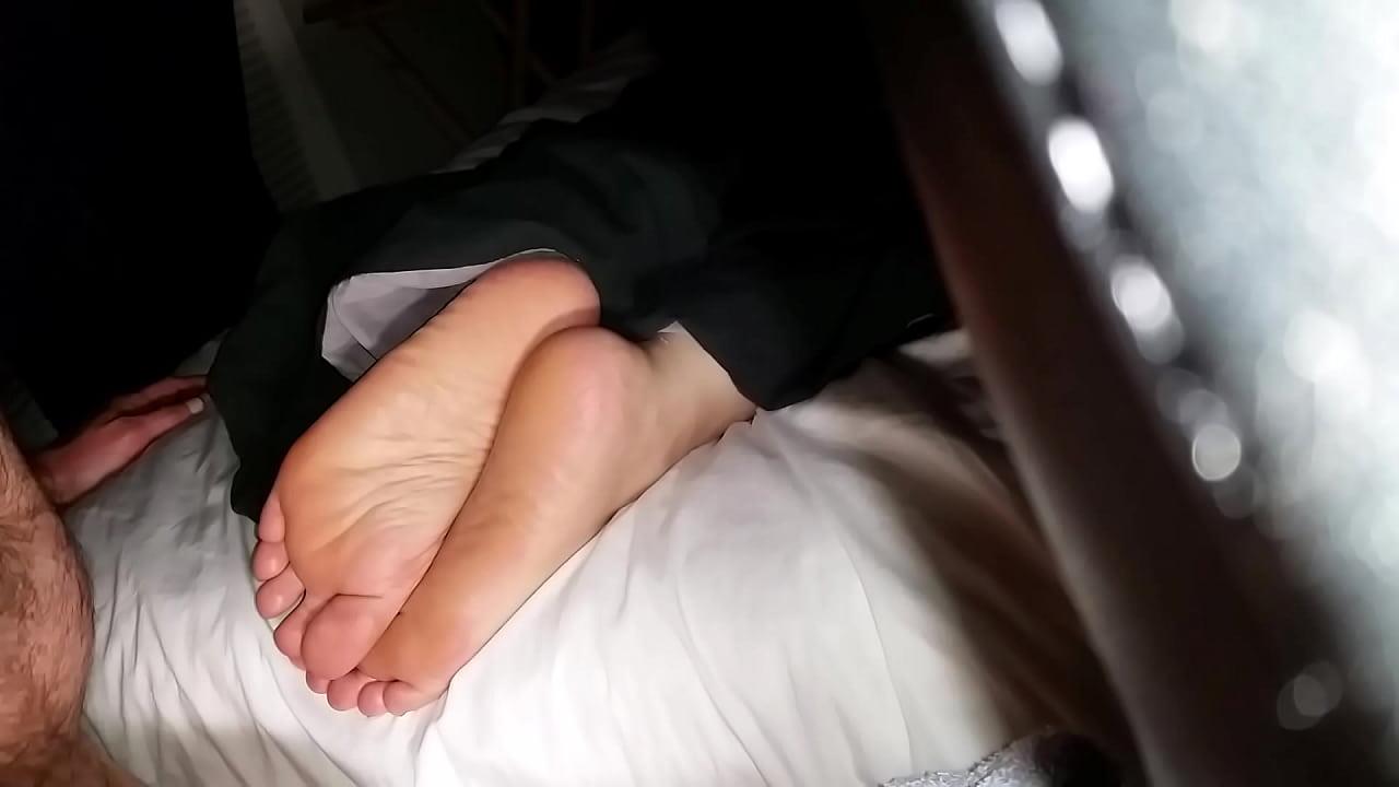 Cumming On Girlfriend's Feet #24