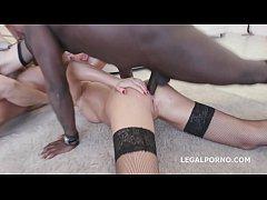 Interracial sluts Belle Clair and Tina Kay get ...