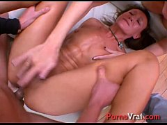 Two matures anal sodo orgasm! French amateur