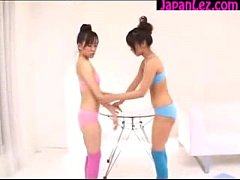 Asian Schoolgirls Kissing and Spitting