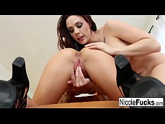 Hot Nicole and Chanel fuck each other like lesb...