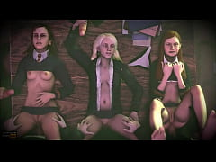 Group sex at Hogwarts from the world of Harry P...