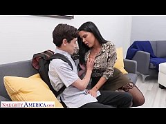 Naughty America Diamond Kitty fucks student to ...