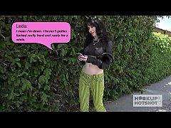 Skinny pale teen Leda Elizabeth gets banged har...