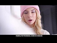 FamilyStrokes - Stepbro Blackmails Hot Blonde I...