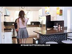 MyBabySittersClub - Babysitter Jillian Janson Fucked By Huge Cock
