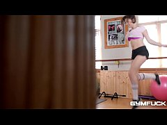 Busty Gym Brat Marina Visconti gets some Big Di...